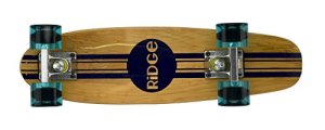 Ridge Skateboards 7-Ply Ahorn Holz Mini Cruiser Board Skateboard, komplett, 55cm